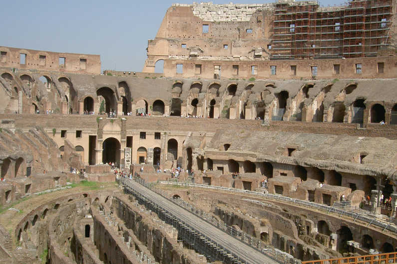 ruins of the Roman coliseum