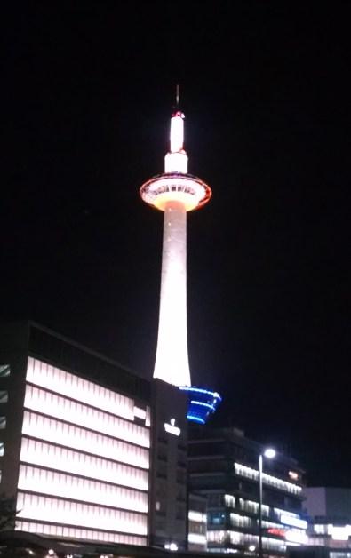 kyoto station tower night